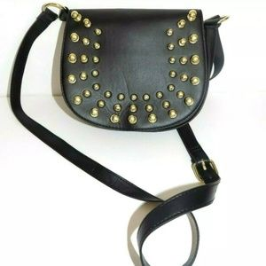 H&M black Studded Crossbody Bag